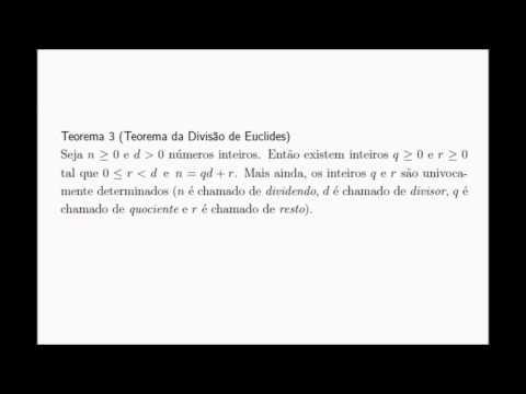 Teorema da Divisão de Euclides (vídeo 1)