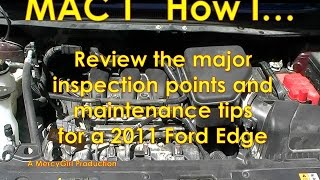 2011 Ford Edge basic maintenance tips