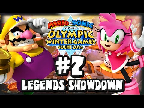 Mario & Sonic At the 2014 Sochi Winter Olympic Games - (1080p) Legends Showdown Part 2