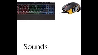 Keyboard and mouse sounds but mostly keyboard