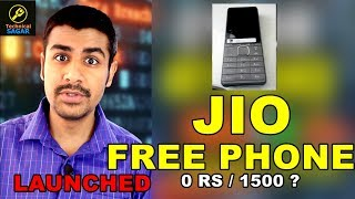JIO 0 RS PHONE LAUNCHED | FREE PHONE FOR ALL | 1500 Deposit ?