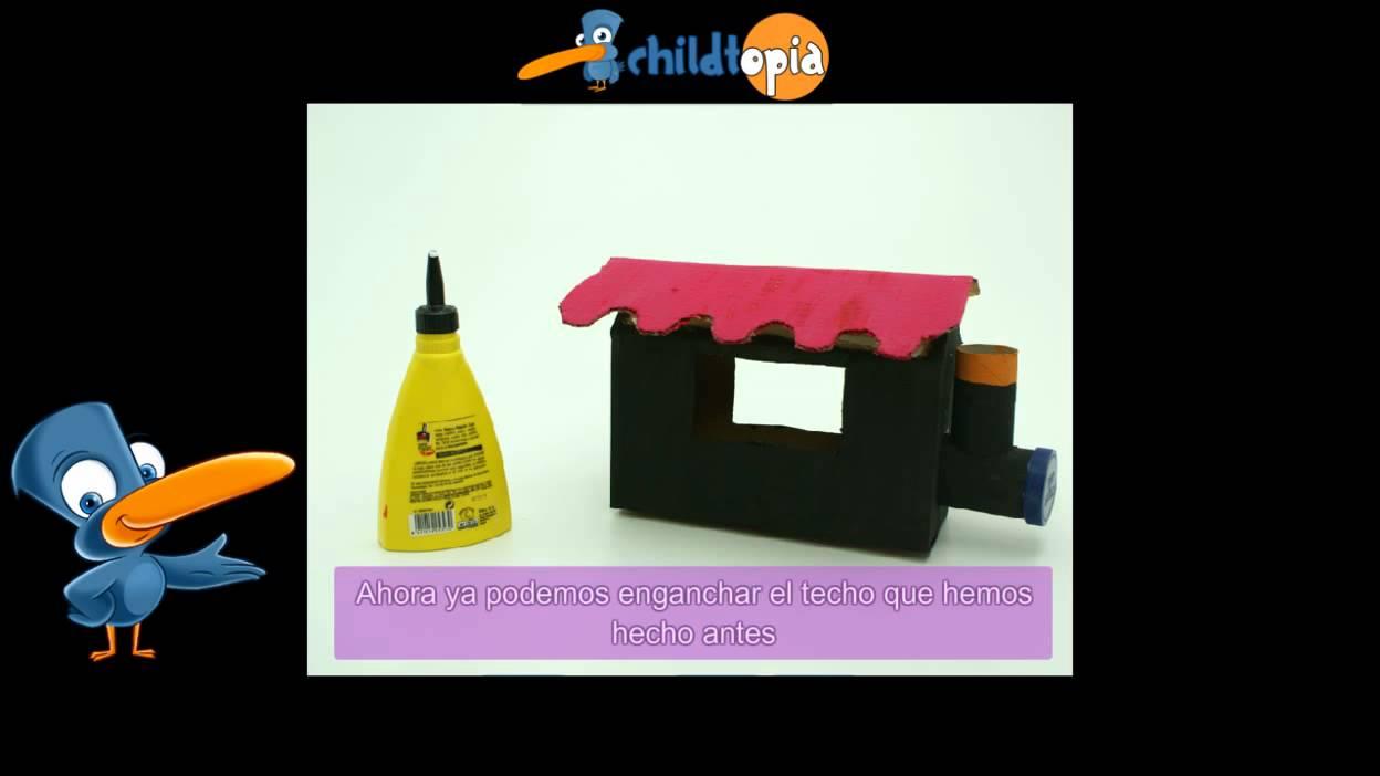 Manualidades infantiles, manualidades con material reciclado - YouTube