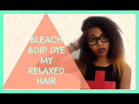 How I Bleached And Dip Dye My Relaxed Hair Blonde ≡bunnylanterns