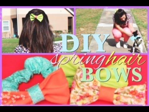 DIY Hair Bows/Scrunchies! (No Sew) Tutorial