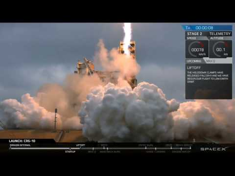 Successful SpaceX Launch & Landing of Falcon 9 + Dragon CRS-10 Mission to the ISS (2017-02-19)