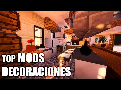 MINECRAFT TOP MODS de DECORACIONES ! - MINECRAFT 1.12.1 - 1.12.2