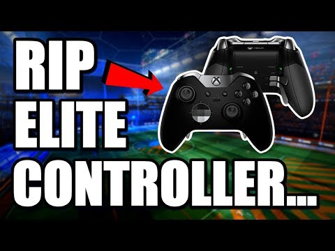 RIP MY ELITE CONTROLLER | 1v1 Road to GRAND CHAMPION ( Rocket League Gameplay )