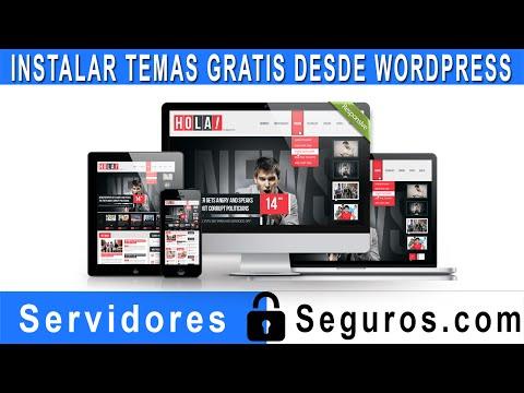 INSTALAR TEMAS GRATIS DESDE WORDPRESS