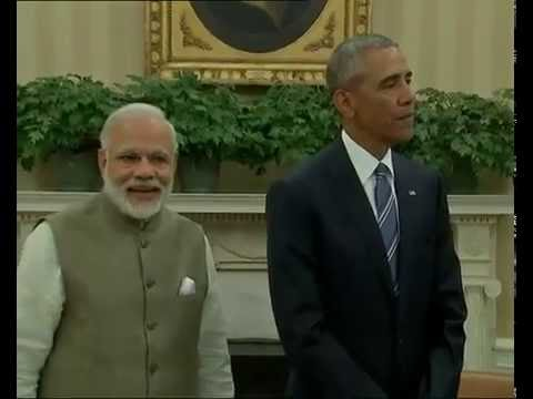 PM Modi and President of United States Barack Obama at the Joint Press Statement in Washington
