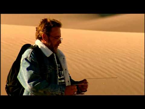 Derren in the desert with dowsing rods - Derren Brown: Trick Of The Mind
