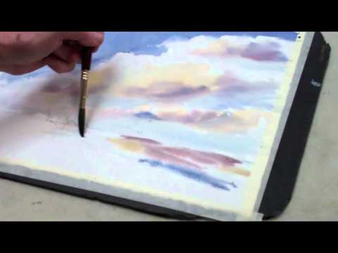 How to Paint Watercolor Clouds ▶ How to Paint a Watercolor