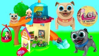 Fizzy and Phoebe Play with Puppy Dog Pals Doghouse Playhouse