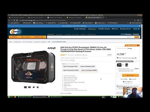 Video Editing Computer Build 2018-19 AMD 2nd Gen RYZEN Threadripper 2990WX 32 Core 64 Thread 4.2 GHz