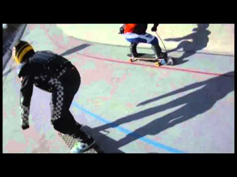NAPSR Electric Skateboard Racing Helmet Cam Race and Crash, Skateboard Racing