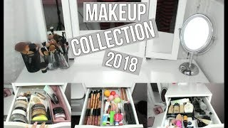 MAKEUP COLLECTION OF A 17 YEAR OLD | 2018 MAKEUP COLLECTION | Katie Meng
