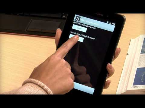 Tablet A1-07: Setting up Your Google Accounts
