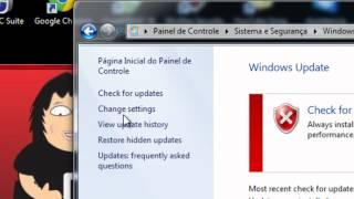 Desativar as Atualizações automáticas windows 7 (2012)