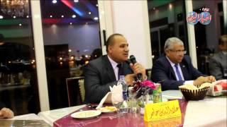 كلمة رئيس اتحاد الجمباز ورئيس جامعة بورسعيد أثناء تكريم لاعبي الهوكي ببورفؤاد