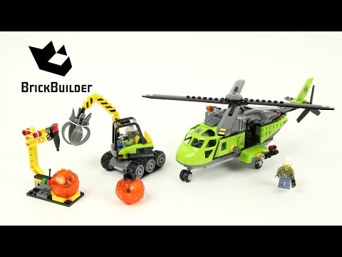 Lego City 60123 Volcano Supply Helicopter - Lego Speed Build