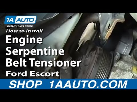 How To Install replace Engine Serpentine Belt Tensioner 1998-03 Ford Escort ZX2 2.0L DOHC