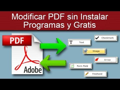 Modificar PDF sin Instalar Programas y Gratis