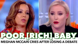 Meghan McCain Cries After Losing A Debate On The View