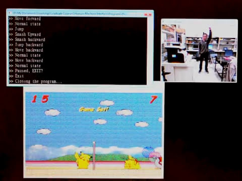 Playing Picachu Volleyball Game with Microsoft Kinect SDK