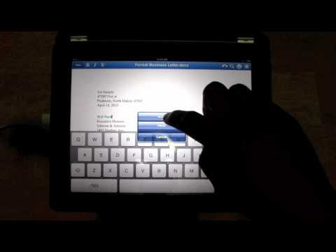 Microsoft Office for the iPad (Quick Office HD)