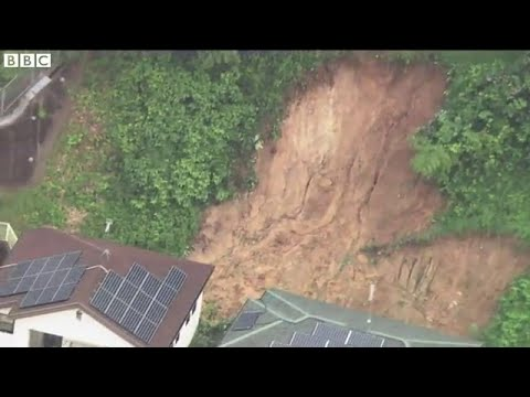 Rain hampers Japan landslide search, BBC News