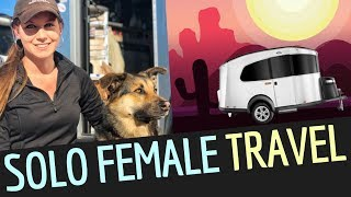 SOLO FEMALE IN AIRSTREAM BASECAMP Travels for RV Living Full Time