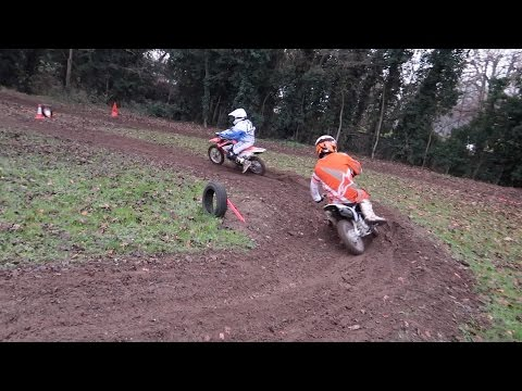 HUGE Backyard MiniBike Crash     Crf110