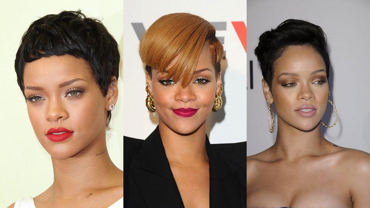 Rihanna Short Hairstyles - YouTube