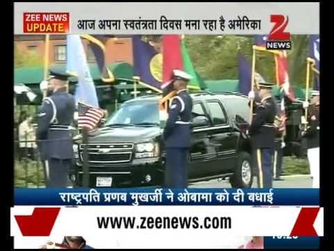 Pranab Mukherjee wishes Barack Obama on eve of American Independence Day