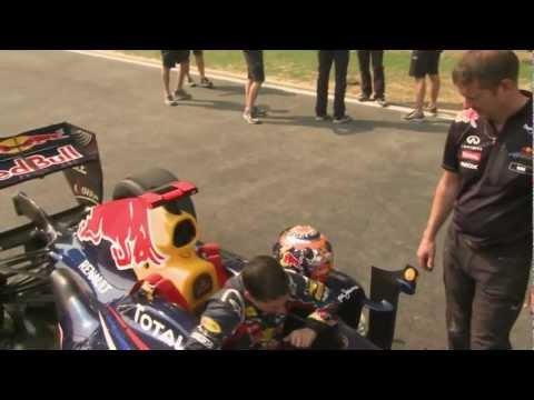 Neel Jani laps the Indian GP circuit in the Red Bull showcar