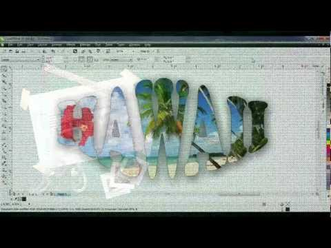 Text Effects - PowerClip in CorelDRAW
