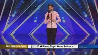 "13-year-old awes ""America's Got Talent"" judges"