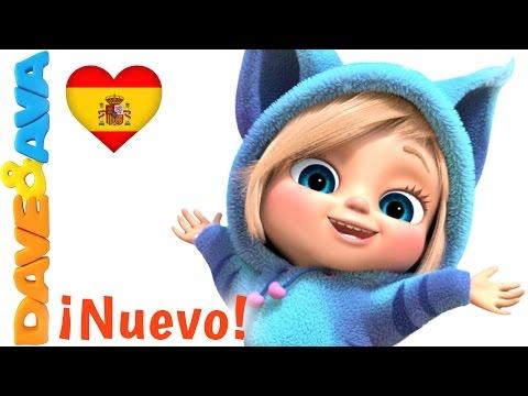 ☺️️ Сanciones Infantiles   Saltando y Cantando  Canciones Infantiles en Español de Dave y Ava ☺️️