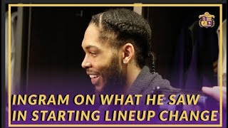 Lakers Post Game: Brandon Ingram On What He Saw From The  Starting Lineup Change