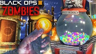 """""""PERKAHOLIC OPENING WITH MY NOSE?!"""" - Black Ops 3 ZOMBIES RARE GOBBLEGUM OPENING! DR MONTYS FACTORY!"""