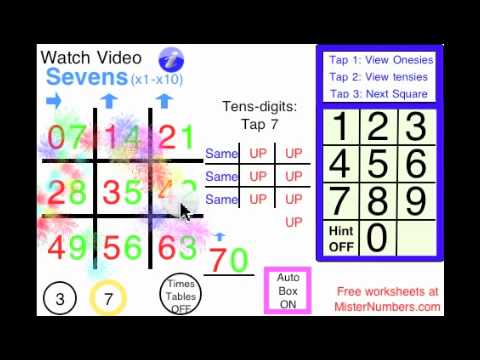 Tic Tac Toe 7s IPhone App by MisterNumbers Right Brain Math