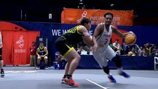 Highlights: Philippines vs. Malaysia | 3X3 Basketball M Prelim Round | 2019 SEA Games