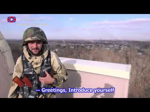 eng subs Situation at Donetsk outskirts near the airport 31 10 14
