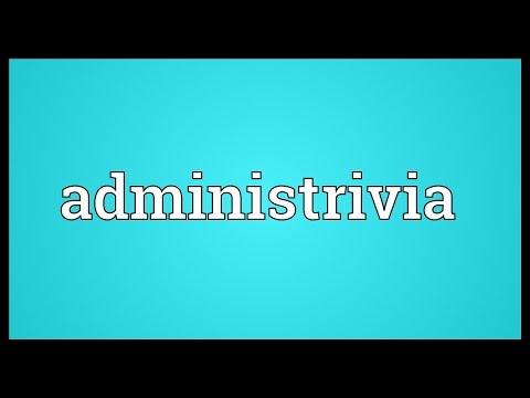 Header of Administrivia