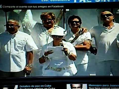 APERTURA DEL CONCIERTO DE JUANES EN CUBA