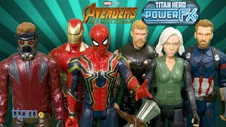 Avengers Infinity War Titan Heroes Iron Man, Iron Spider, Star-Lord, and Captain America from Hasbro