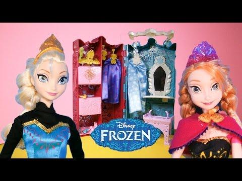 FROZEN Disney Elsa & Anna Closet A Disney Frozen Video Toy Review