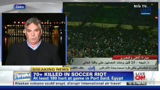 Egyptian official: 73 dead, hundreds injured in riots after soccer game
