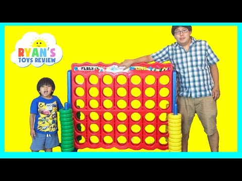 GIANT CONNECT 4 FAMILY GAME NIGHT Life Size Toys for Kids Surprise Eggs Opening Marvel Shopkins