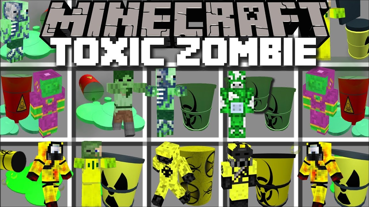 Minecraft TOXIC ZOMBIE MOD / STOP DOOM FROM SPREADING IN THE SCIENCE LAB !! Minecraft