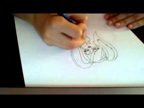 Видео как нарисовать Розу из Барбоскиных